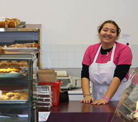 Bailey is an integral part of the team at the Sidney Bakery.