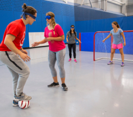 Blind soccer is for everyone - whether or not they have vision challenges.