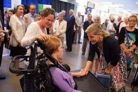 CanAssist client Katie meets Her Royal Highness.