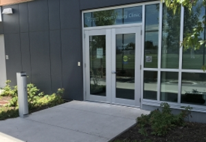 New accessible door buttons were installed in 3 locations at CARSA.