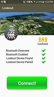 The Lookout lets users connect to the device and change its settings with a phone app.