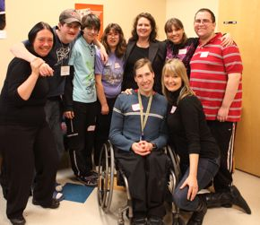 Some members of the VOCYL group with Coordinator Tracy Gill (kneeling, right).