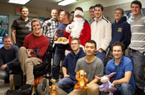 Santa and CanAssist's engineering team.