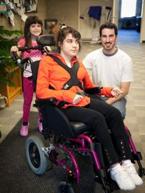 Jenna and her younger sister meet with Mike Lewis at CanAssist.