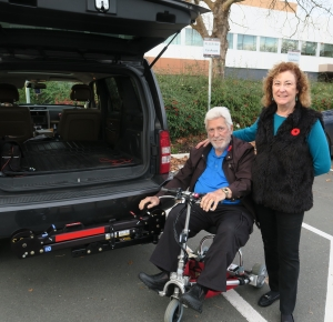 Clients Ken and Susan with their Hitch Lift on delivery day.