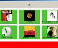 Screenshot of the Visual Music Browser.