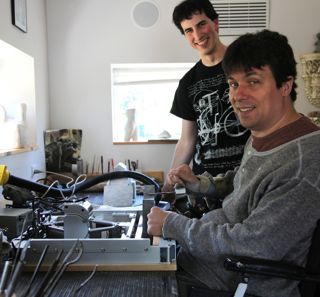 Mike delivers the new vise to Garry, who starts using it immediately.