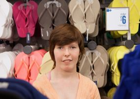 Melissa, who works at Old Navy, is one of the many teens benefitting from the funding.